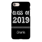 Graphics Inspire - Personalize Class of 2019 Graduation Hand Sketched Black iPhone Case with Name