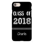 Graphics Inspire - Personalize Class of 2018 Graduation Hand Sketched Black iPhone Case with Name
