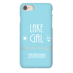 Graphics Inspire - Personalize LAKE GAL Love the Lake Sun and Bikini iPhone Case with Name