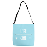 Graphics Inspire - LAKE GAL Love the Lake Sun and Bikini Fun Shoulder Strap Tote