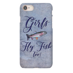 Graphics Inspire - Girls Fly Fish Too Rainbow Trout Purple iPhone Case
