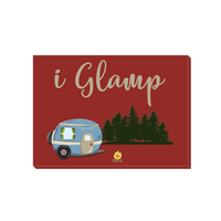 Graphics Inspire Canvas - I Glamp RV Camping Fun Red Canvas Wrap