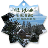 Graphics Inspire Ornament - Mt. LeConte We Hiked in 2018 Great Smoky Mountains National Park Metal Ornament