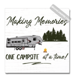 Graphics Inspire Canvas Wrap - Making Memories Fifth Wheel Camping One Campsite At A Time Faux Wood Canvas Wrap