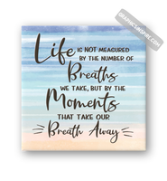 Graphics Inspire Canvas Wrap - Life Breaths & Moments That Take Our Breath Away Quote Canvas Wraps on Multi Watercolor