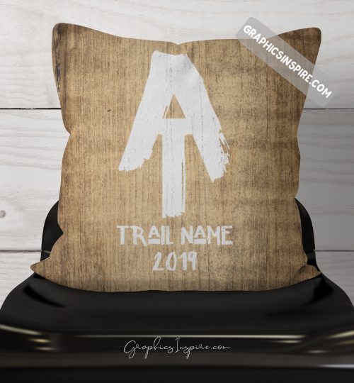 Graphics Inspire Throw Pillow - Personalized AT Thru Hiker's Throw Pillow w/Trail Name & Year Hiked