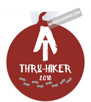 Graphics Inspire Ornament - AT Thru-Hiker 2018 Appalachian Trail Rustic Thru Hiker Metal Ornament