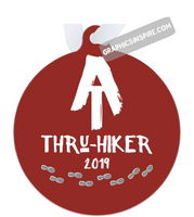 AT Thru-Hiker 2019 Appalachian Trail Rustic Thru Hiker Metal Ornament