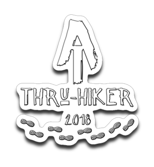 Graphics Inspire Decal - AT Thru-Hiker 2018 Appalachian Trail Rustic Thru Hiker Die-Cut Decal