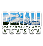 Graphics Inspire Decal - DENALI National Park Alaska Mountain Range Die-Cut Decal