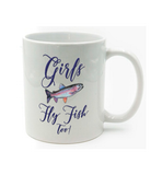 Graphics Inspire Mug - Girls Fly Fish Too Rainbow Trout Trendy Mug