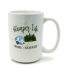 Graphics Inspire Mug - Glamper Life Fun RV Camper Retired Backpacker Camping Mug