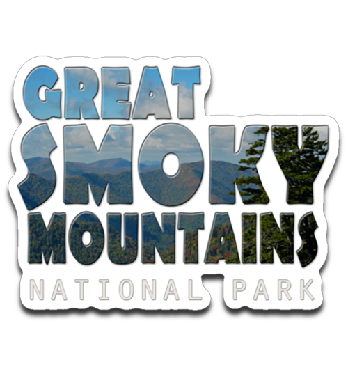 Graphics Inspire Decal - Great Smoky Mountains National Park in Mountain Landscape Die-Cut Decal