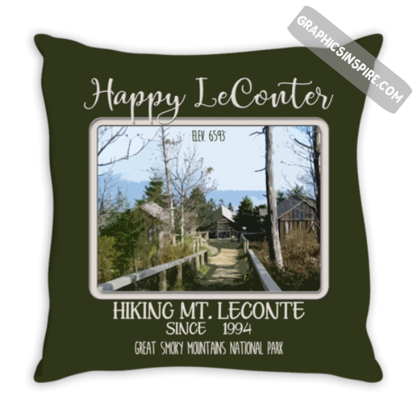 Graphics Inspire - Personalize Happy LeConter Hiking Mt LeConte in the Great Smoky Mountains Since Year Throw Pillow