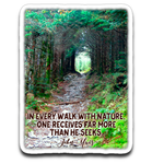 Graphics Inspire Decal - In Every Walk with Nature - John Muir Quote Die-Cut Decal