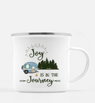 Graphics Inspire Mug - Joy Is In The Journey RV Camping 10 oz. Metal Camp Mug