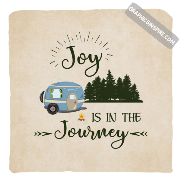 Graphics Inspire Pillow Cover - Joy Is In The Journey RV Camping Throw Pillow Cover Only