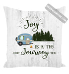 Graphics Inspire Pillow - Joy Is In The Journey RV Camping Wood look Rustic Throw Pillow