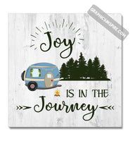 Graphics Inspire Canvas - Joy Is In The Journey RV Camping Wood look Canvas Wrap