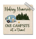 Graphics Inspire Canvas - Making Memories One Campsite At A Time RV Camping Canvas Wrap