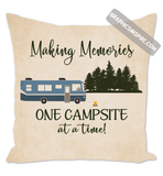 Graphics Inspire Pillow - Making Memories Class A RV Camping One Campsite At A Time Throw Pillow