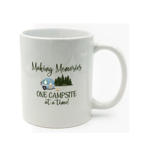 Graphics Inspire Mug - Making Memories One Campsite At A Time RV Camping Mug
