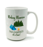 Graphics Inspire Mug - Making Memories One Campsite At A Time Tent Camping Mug
