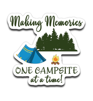 Graphics Inspire Decal - Making Memories One Campsite At A Time Tent Camping Die-Cut Decal