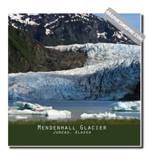 Graphics Inspire Canvas - Mendenhall Glacier in Juneau Alaska Lovely Canvas Wrap