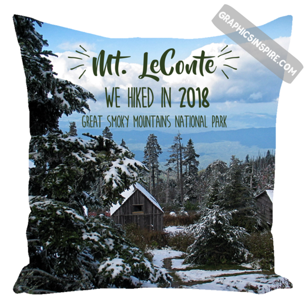 Mt. LeConte We Hiked in 2018 Great Smoky Mountains National Park Throw Pillow
