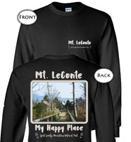 Graphics Inspire T-Shirt - Mt. LeConte My Happy Place Great Smoky Mountains National Park Two-sided Long Sleeve T-Shirt