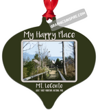Graphics Inspire Ornament - My Happy Place Mt LeConte in the Great Smoky Mountains National Park Metal Ornament