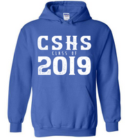 Graphics Inspire Hoodie - Personalize Class of 2019 Distressed Graduation with School Hoodie