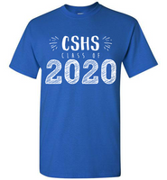 Graphics Inspire T-Shirt - Personalize Class of 2020 Graduation Hand Sketched with School T-Shirt