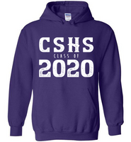 Graphics Inspire Hoodie - Personalize Class of 2020 Distressed Graduation with School Hoodie