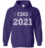 Graphics Inspire Hoodie - Personalize Class of 2021 Graduation Hand Sketched with School Hoodie