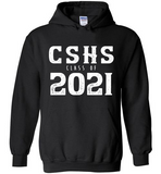 Graphics Inspire Hoodie - Personalize Class of 2021 Distressed Graduation with School Hoodie