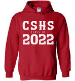 Graphics Inspire Hoodie - Personalize Class of 2022 Distressed Graduation with School Hoodie
