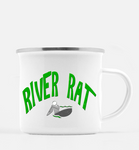 Graphics Inspire Mug - River Rat Whitewater Kayaking Distressed Kayaker's 10 oz. Metal Camp Mug