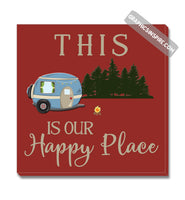 Graphics Inspire Canvas - This Is Our Happy Place Fun RV Camping Red Canvas Wrap