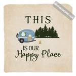 Graphics Inspire Pillow - This Is Our Happy Place Fun RV Camping Throw Pillow Cover Only