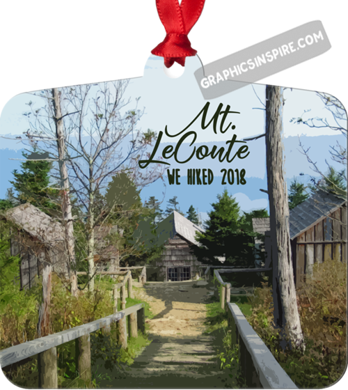 Graphics Inspire Ornament - We Hiked Mt. LeConte in Great Smoky Mountains National Park in 2018 Metal Ornament