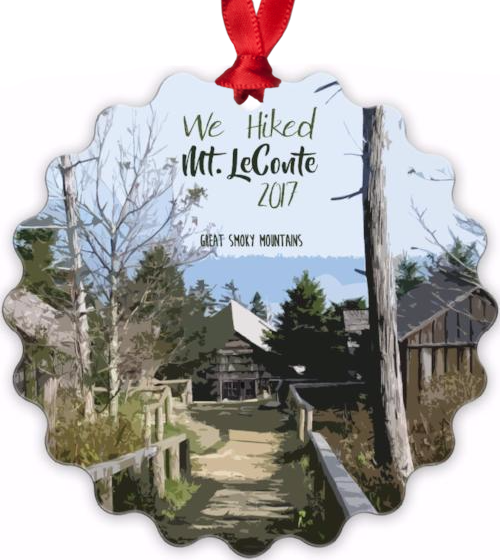 Graphics Inspire - We Hiked Mt. LeConte in Great Smoky Mountains National Park with Year Metal Ornament