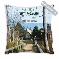 Graphics Inspire - Personalize We Hiked Mt. LeConte in Great Smoky Mountains National Park with Year Throw Pillow