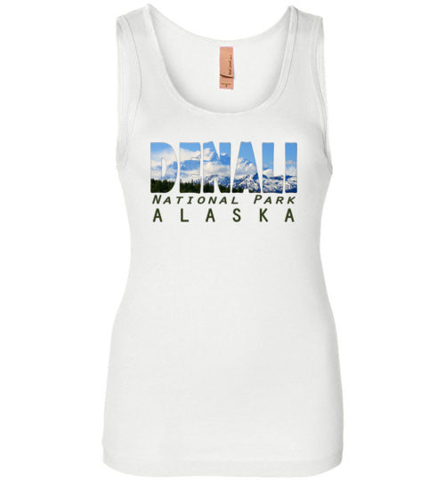 Graphics Inspire - DENALI National Park Alaska Mountain Range Womens Tank
