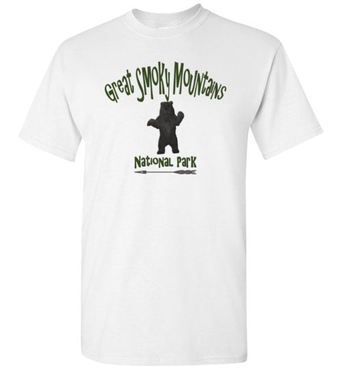 Graphics Inspire - Kids Great Smoky Mountains National Park Black Bear White T-Shirt