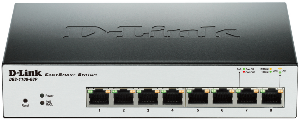 Switch PoE de 8 Portas Gigabit - DLINK