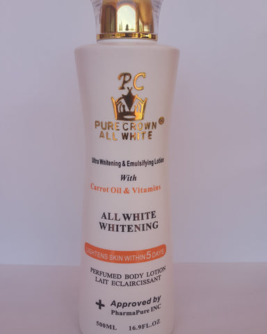 PURE CROWN ALL WHITE CARROT & VITAMIN LOTION.