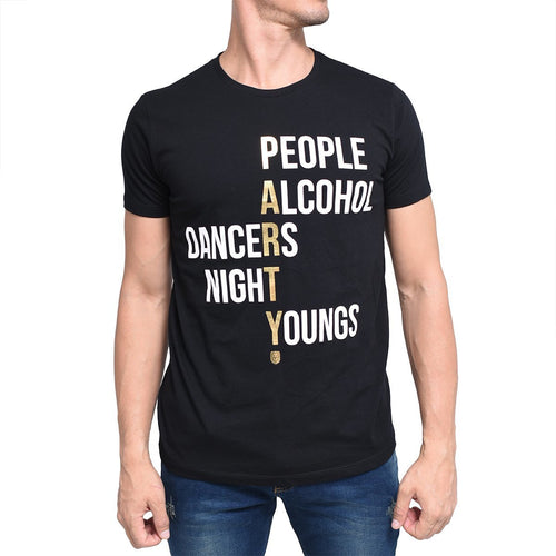 Camiseta People F.Nebuloni negra