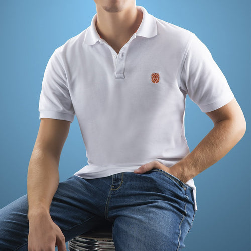 POLO PIQUE VANIZADO STRETCH BLANCO